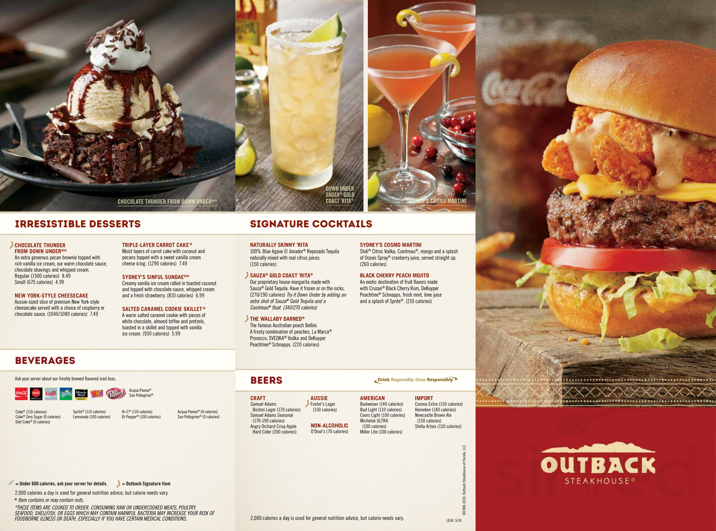 Outback Tupelo Ms >> Menu For Outback Steakhouse In Tupelo Mississippi Usa