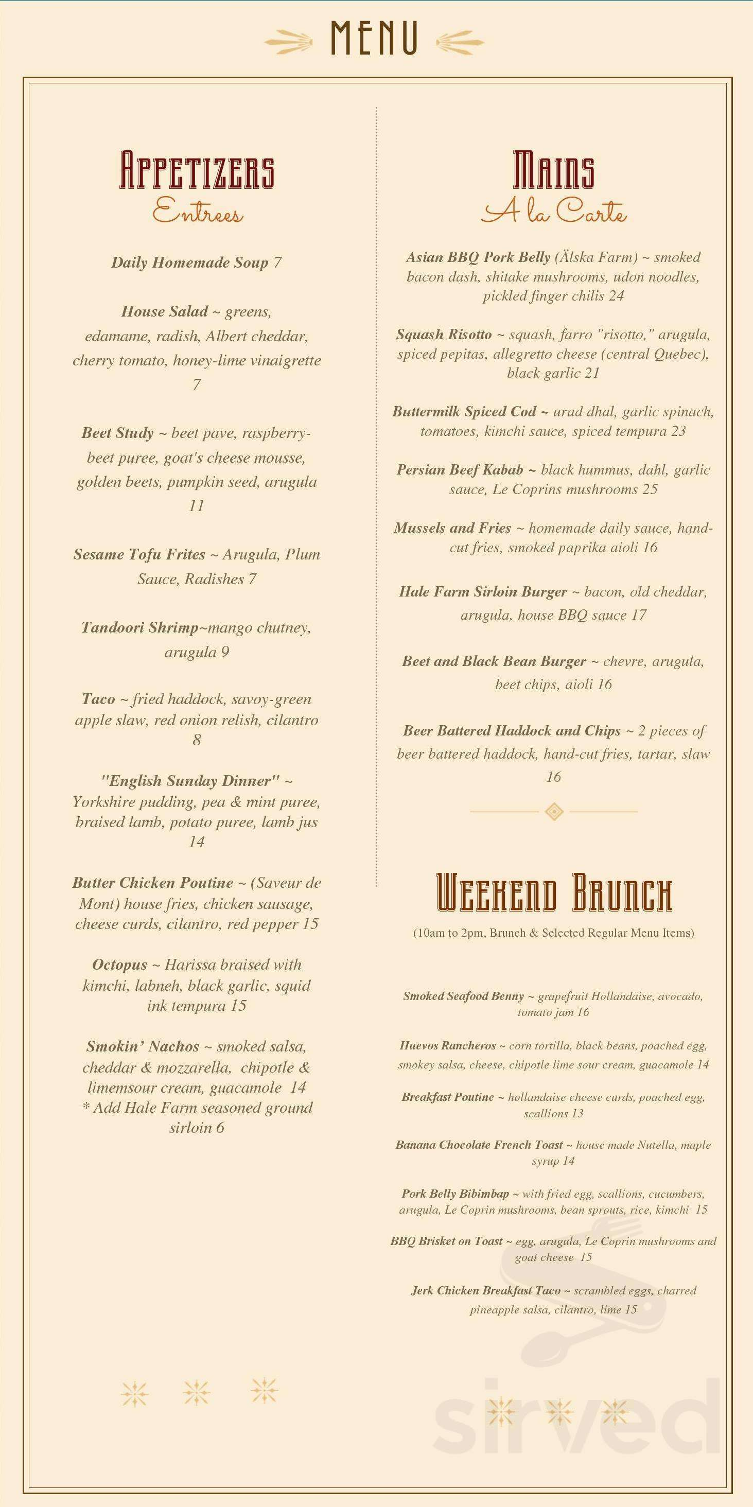 41d102972 Menu for Le Hibou Cafe   Bar in Wakefield