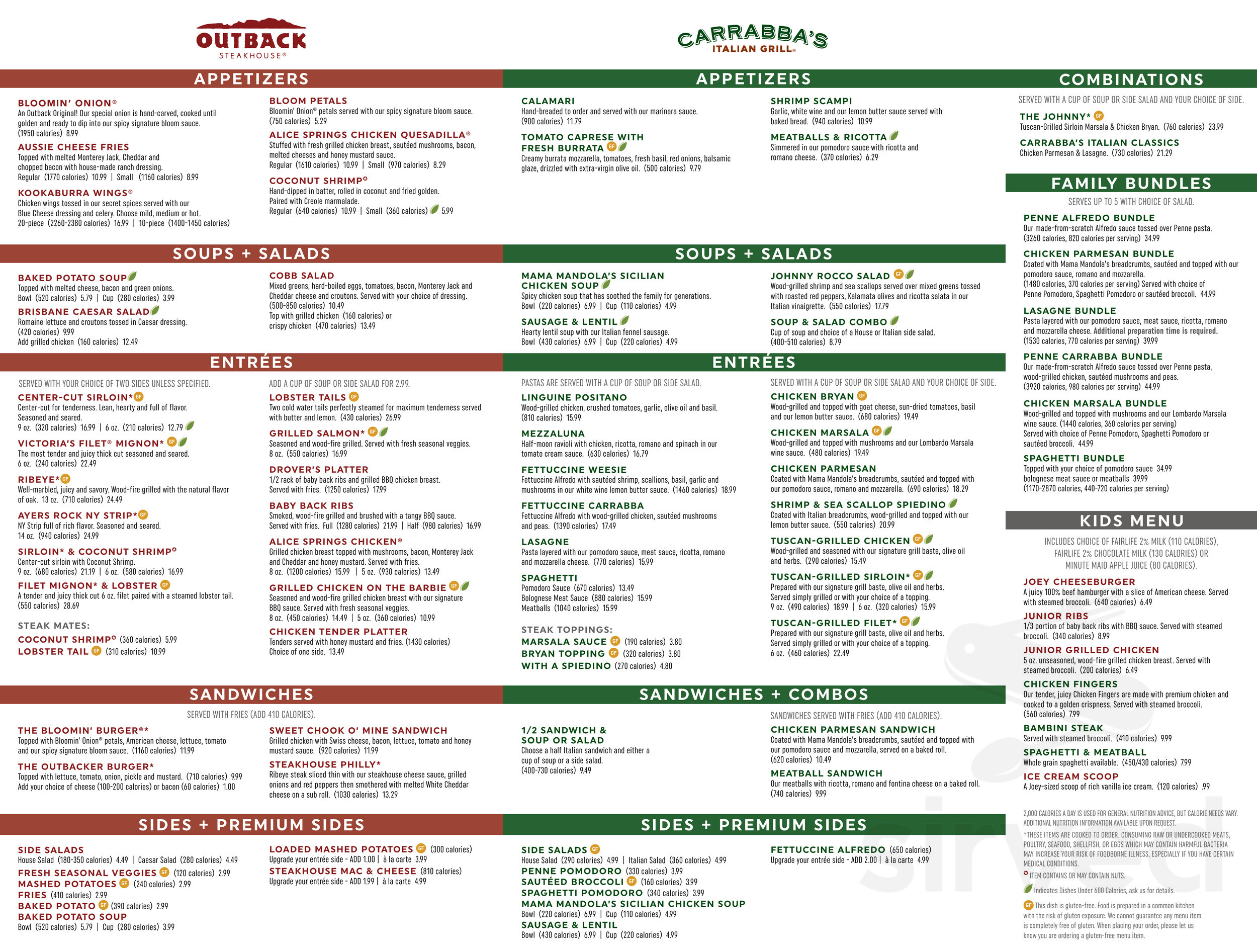 outback carrabba s express menu in riverview florida outback carrabba s express menu in