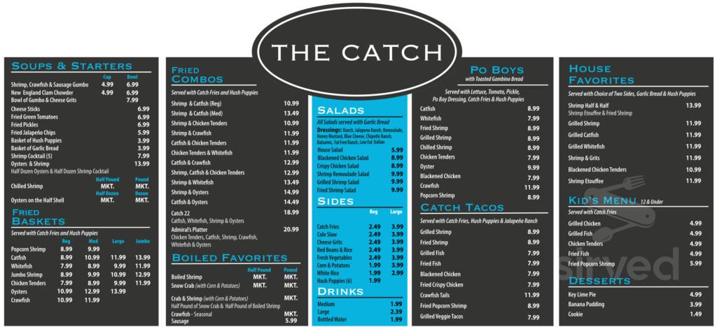 The Catch Menu In Tyler Texas Usa