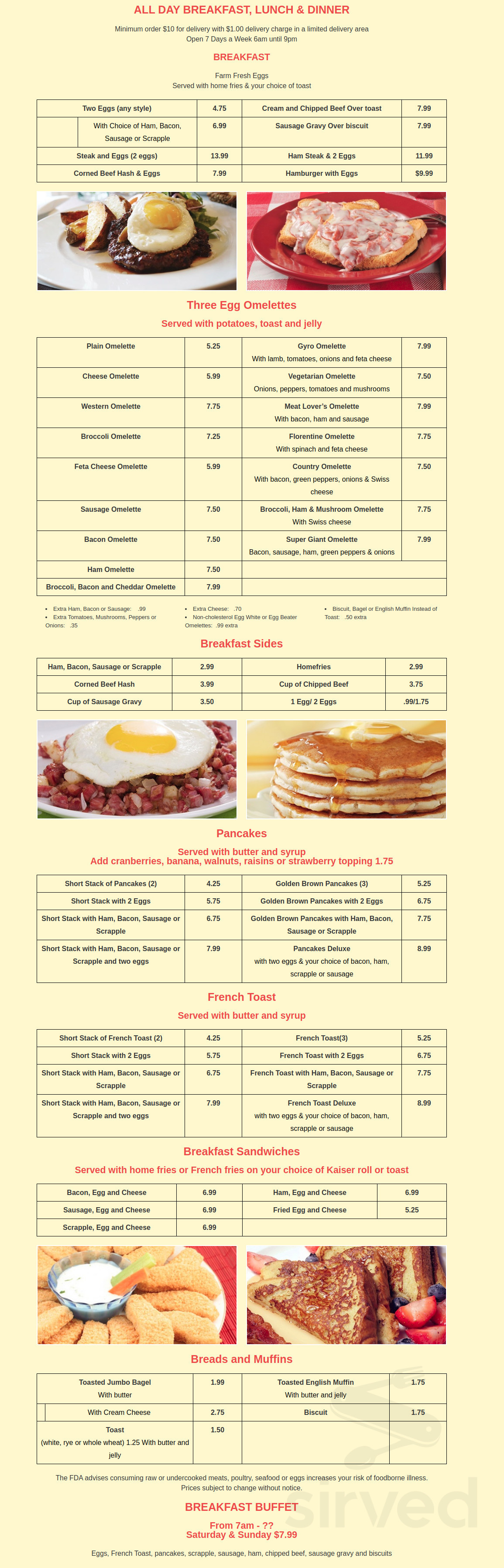 Menu for Country Kitchen in Millsboro, Delaware, USA