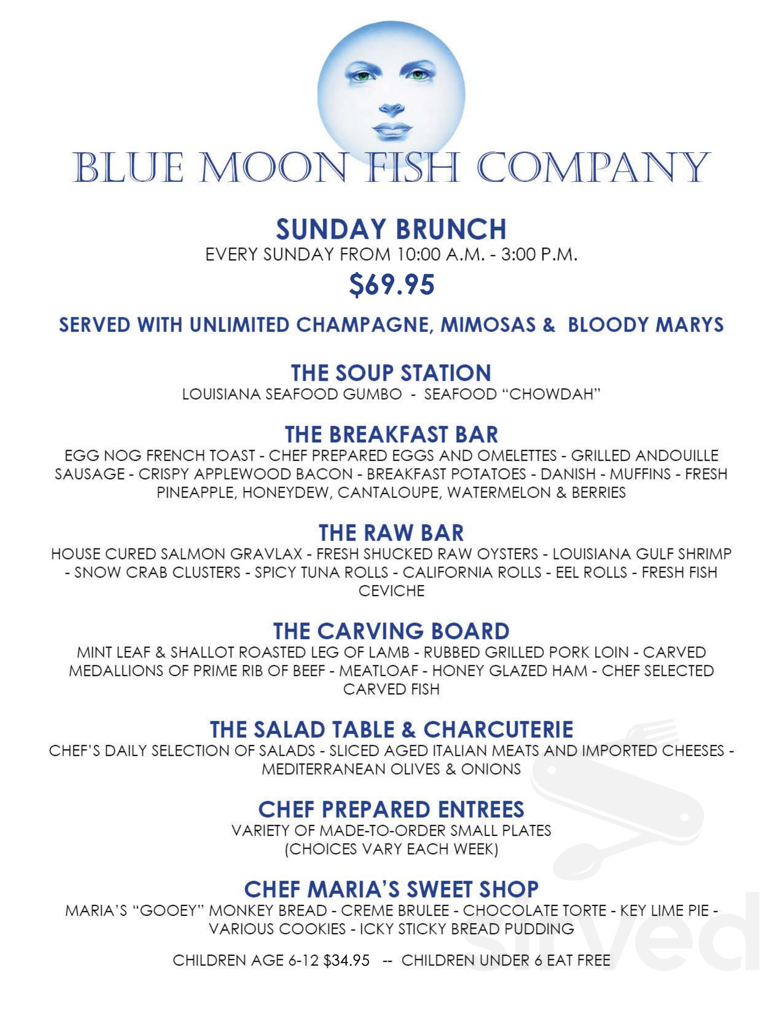 Blue Moon Fish Co Menu In Lauderdale By The Sea Florida