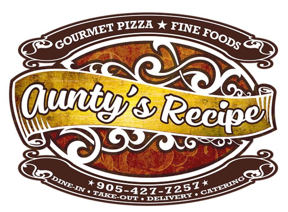 Aunty's Recipe menu in Ajax, Ontario, Canada