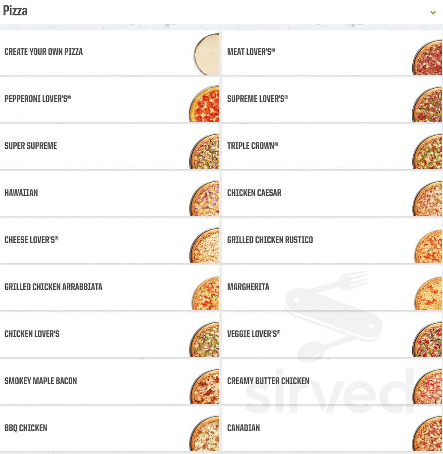 Menu For Pizza Hut In Carlisle Pennsylvania Usa