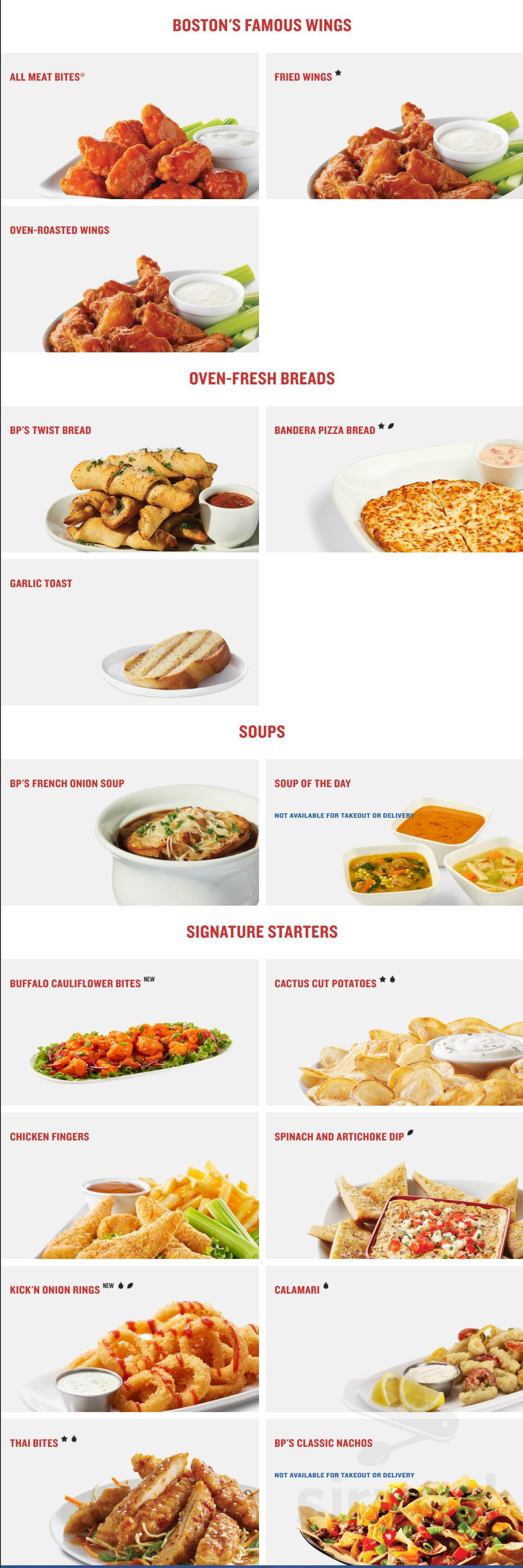 Boston Pizza Menu In Thunder Bay Ontario Canada One order comes with eight pieces. boston pizza menu in thunder bay