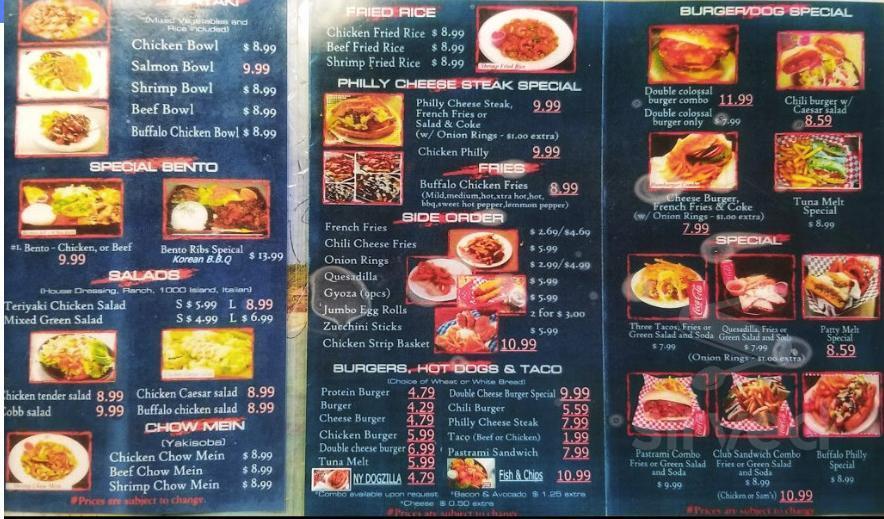 Sam S Charbroiled Burgers Menu In North Hollywood California