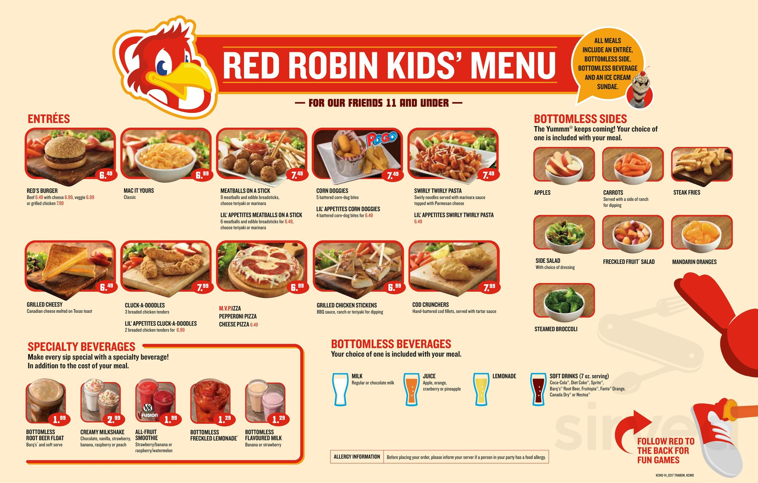 Menu For Red Robin In Edmonton Alberta Canada - Us-beer-map-red-robin