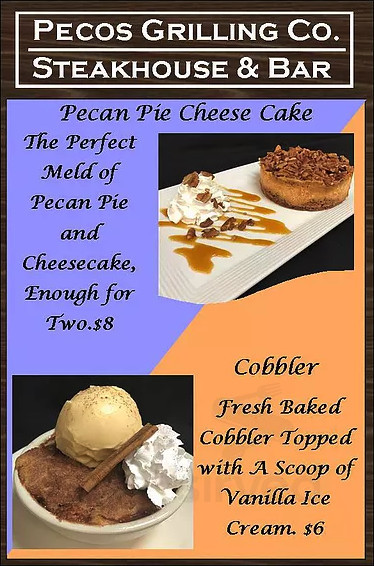 Pecos Grilling Company menu in Tomball, Texas, USA