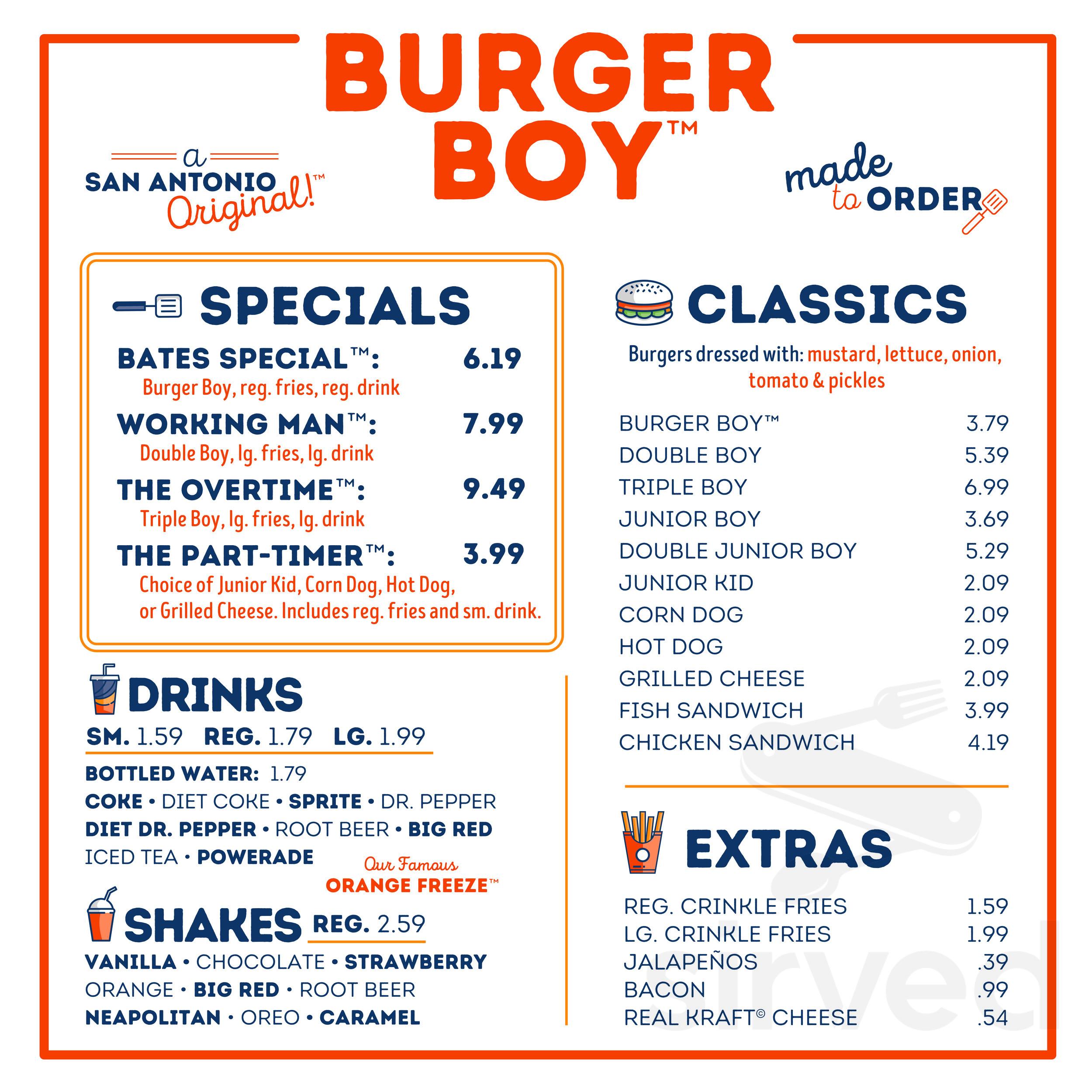 Burger Boy Menu In San Antonio Texas Usa Oi burger boy burger boy: burger boy menu in san antonio texas usa