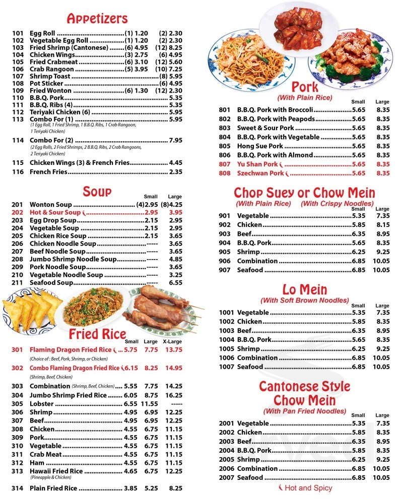 See Thru Chinese Kitchen 23 Menu In Chicago Illinois