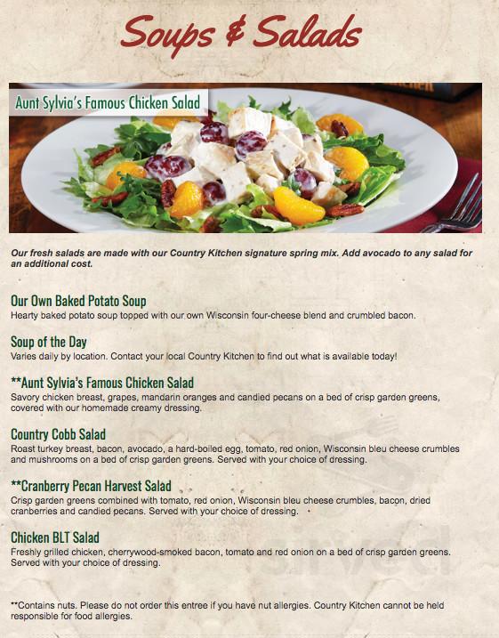 Menu for Aberdeen Country Kitchen in Aberdeen, Idaho, USA