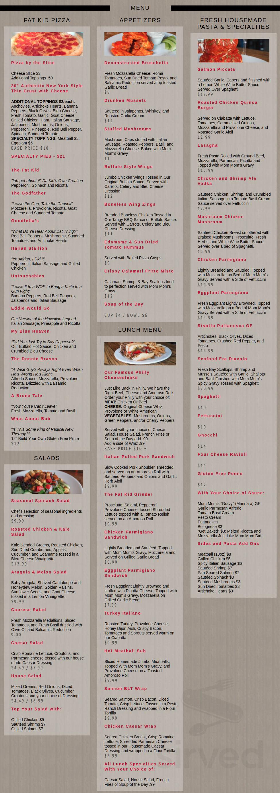 Maxwell S East Coast Eatery Menu In Salt Lake City Utah