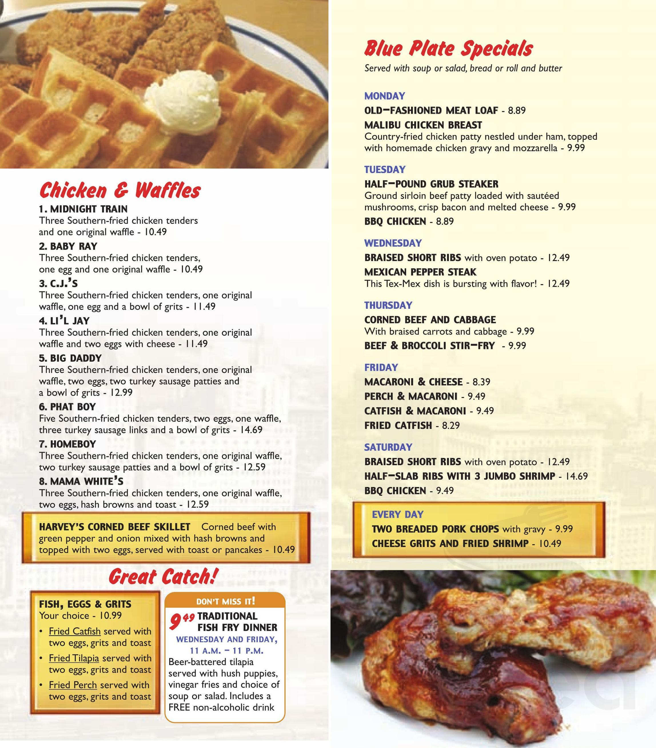 Menu for White Palace Grill in Chicago, Illinois, USA