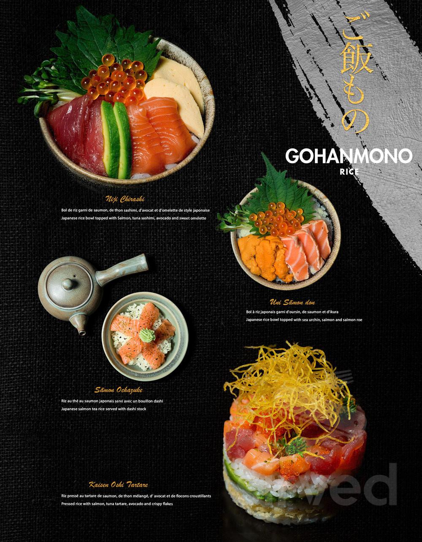 Menu for Yen Cuisine Japonaise in Montréal, Quebec, Canada