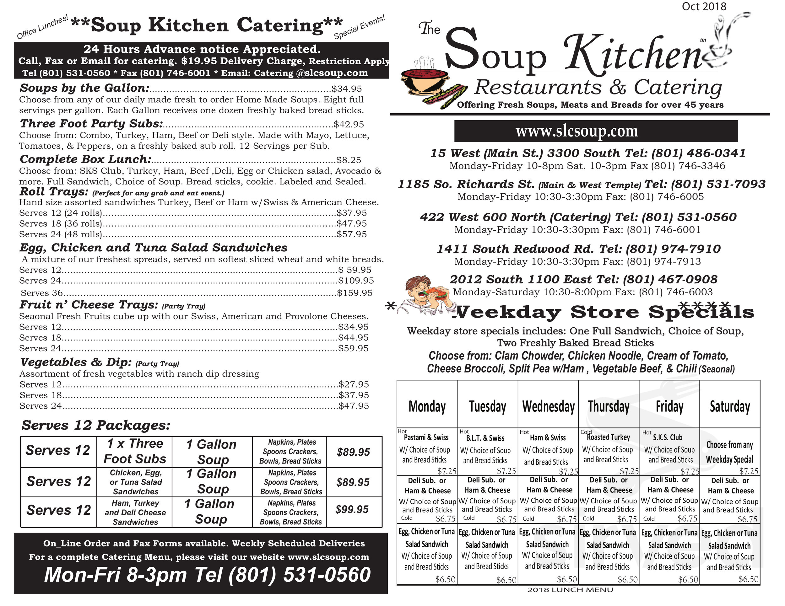 Sugar House Soup Kitchen Menu In Salt Lake City Utah Usa