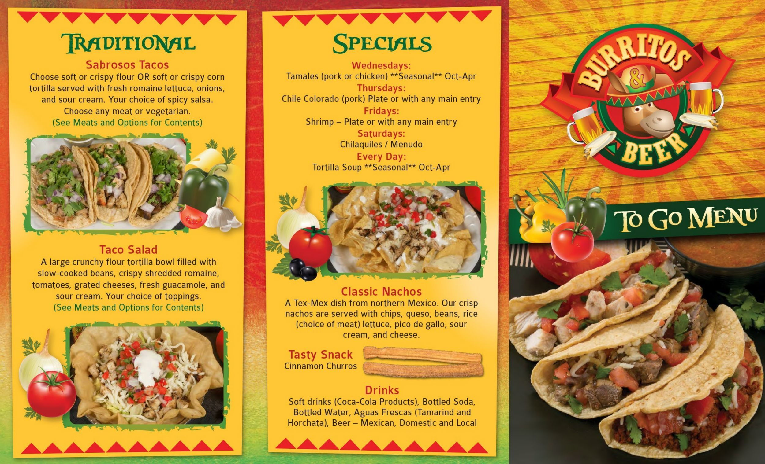 Burritos Beer Restaurant Llc Menu In Fishers Indiana