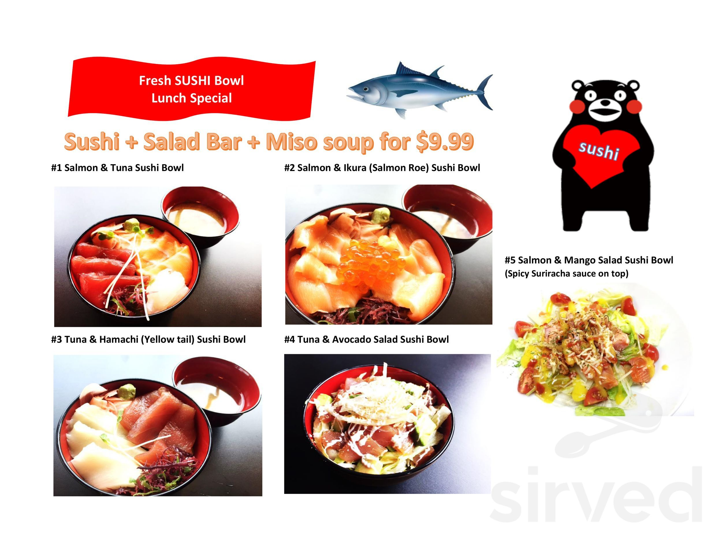 Sushi Station Rolling Meadows Menu / We serve classic, special, and cooked rolls.