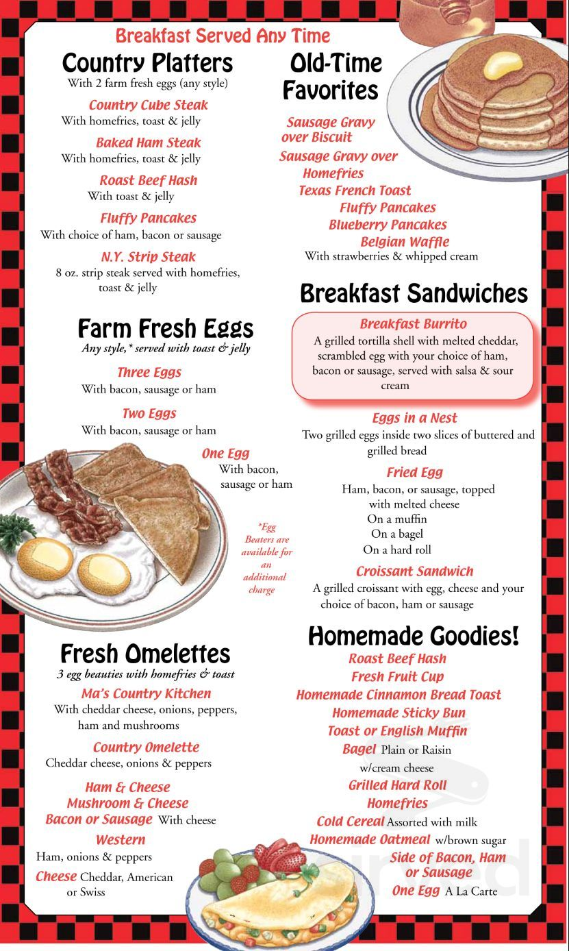 T & J\'s Country Kitchen menu in Hornell, New York, USA