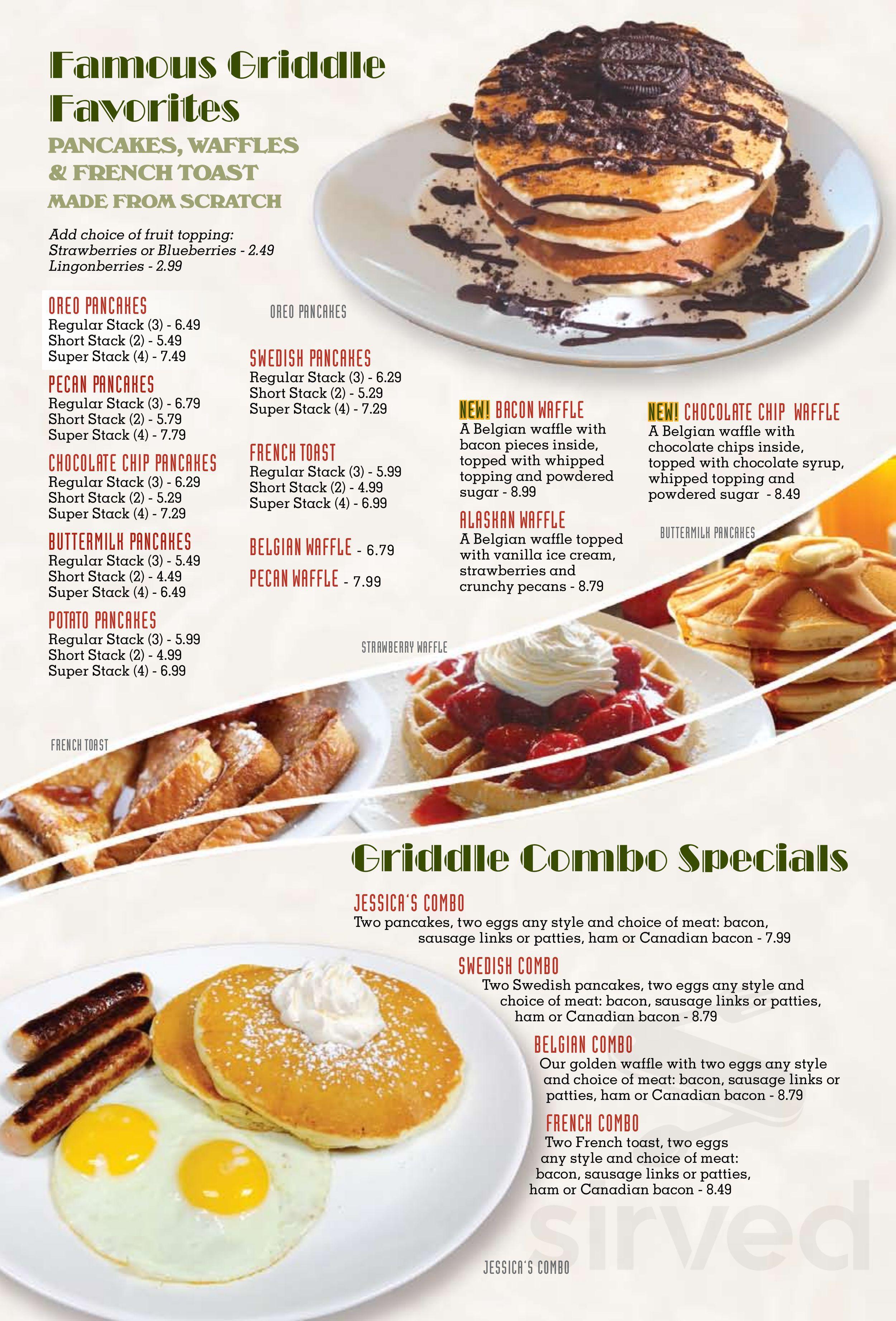 Jessica's Restaurant menu in Roscoe, Illinois, USA
