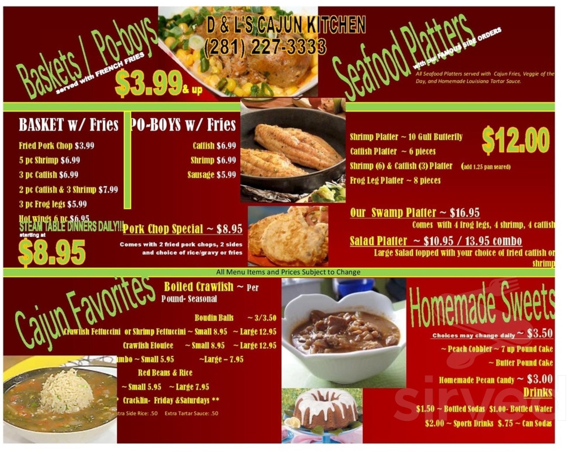 D L S Cajun Kitchen Menu In Houston Texas Usa