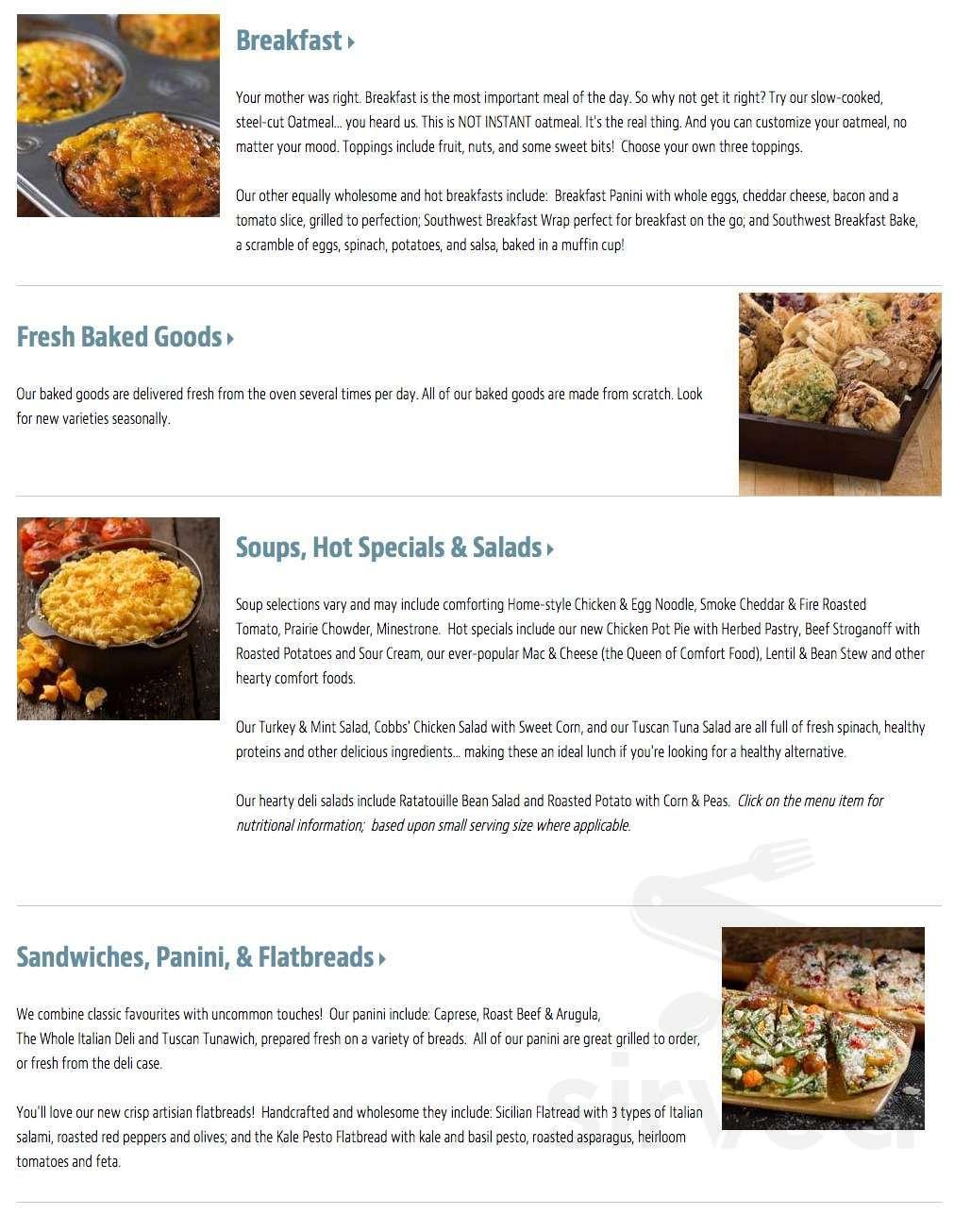 Menu for Good Earth Coffeehouse in Edmonton, Alberta, Canada Order Breakfast Edmonton on