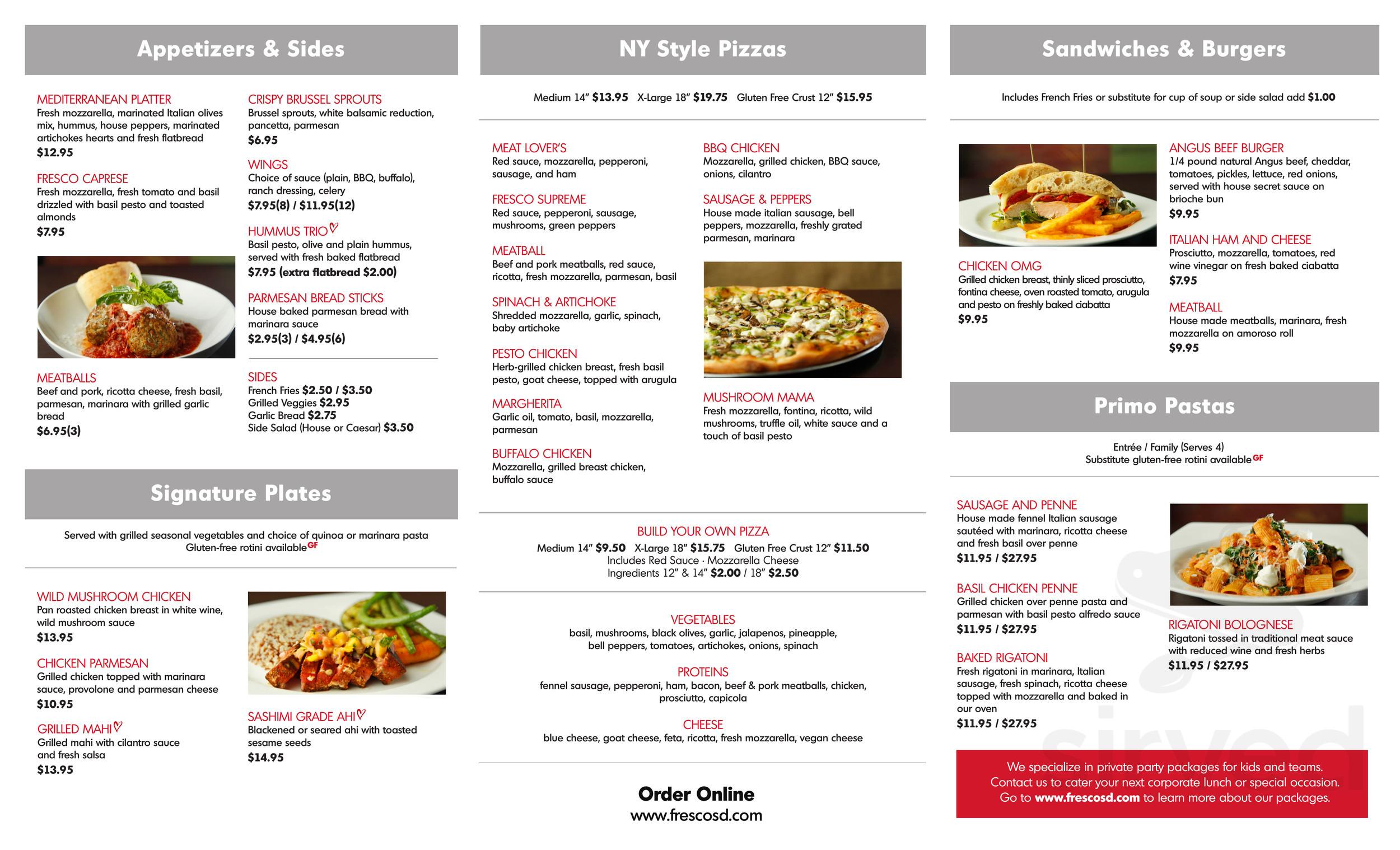 fresco pizza coupon san diego