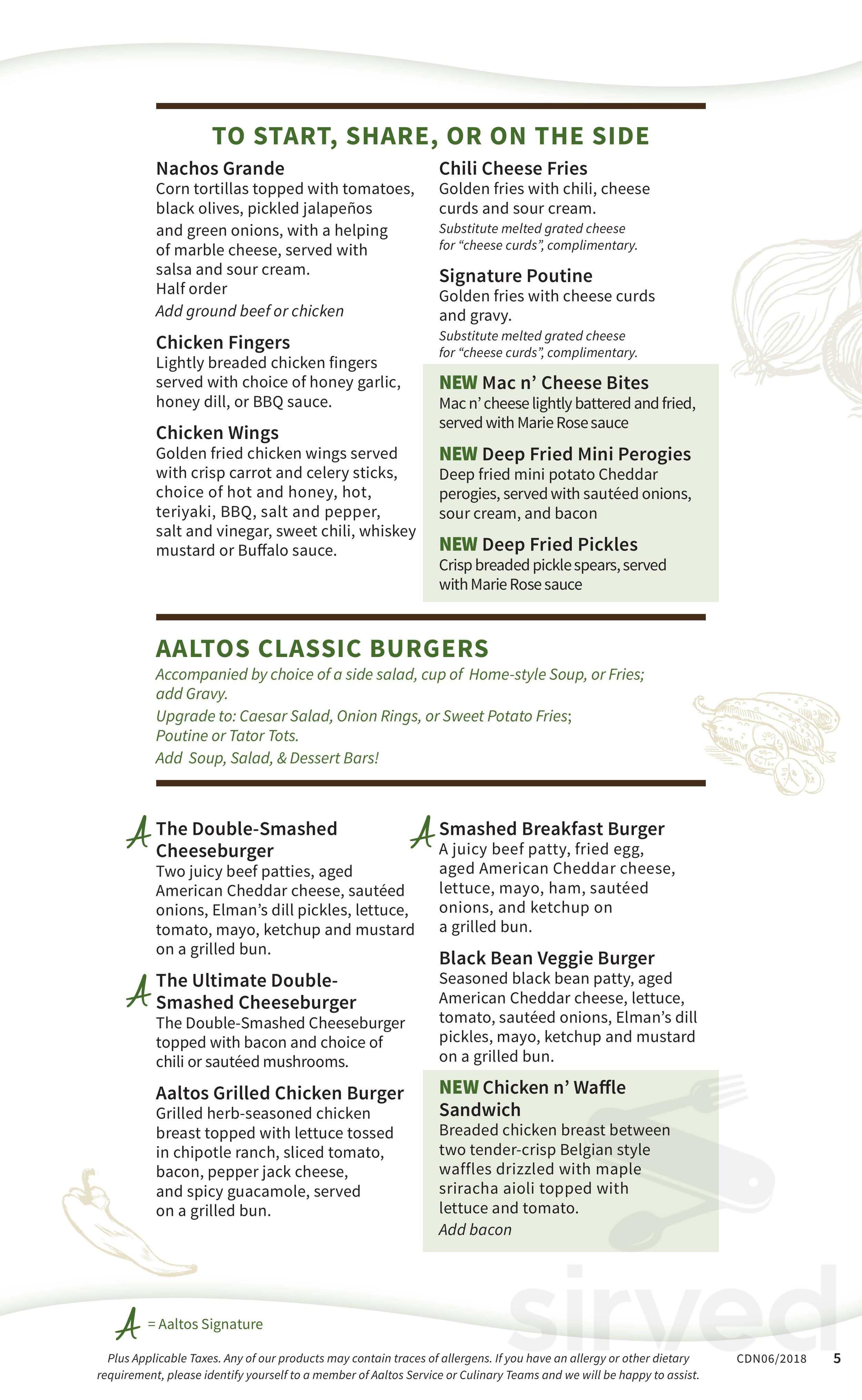 aaltos garden caf brandon menu has been digitised by sirved the menu for aaltos garden caf brandon may have changed since the last user update - Maple Garden Menu