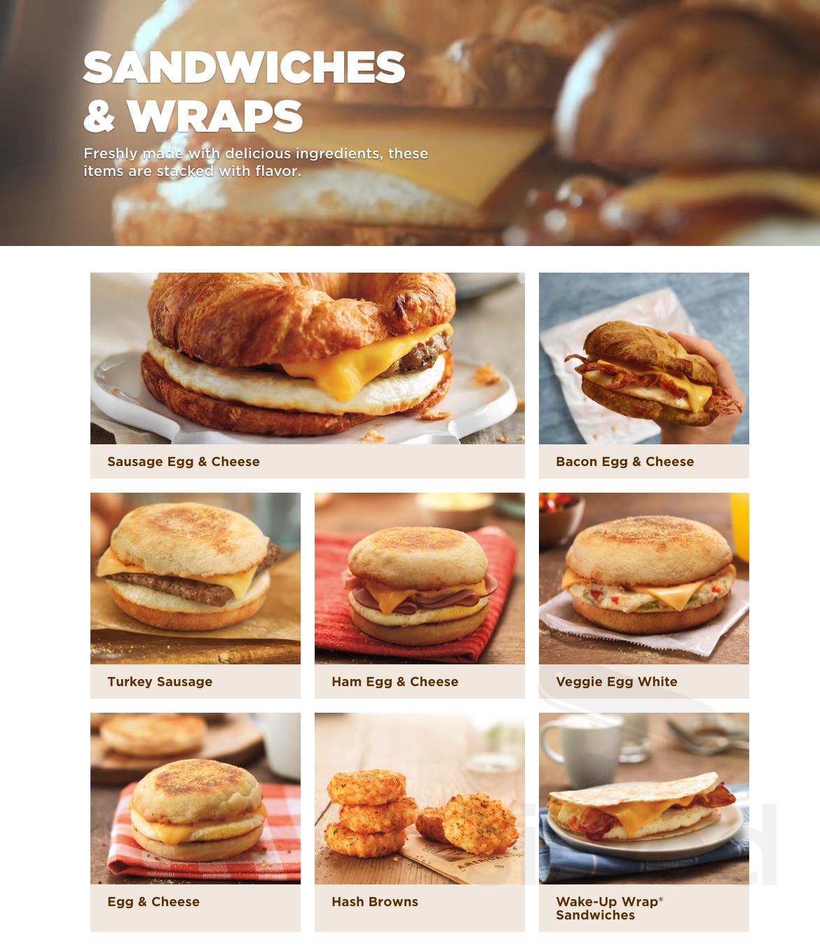 Dunkin Donuts Menu In Wyoming Rhode Island Usa