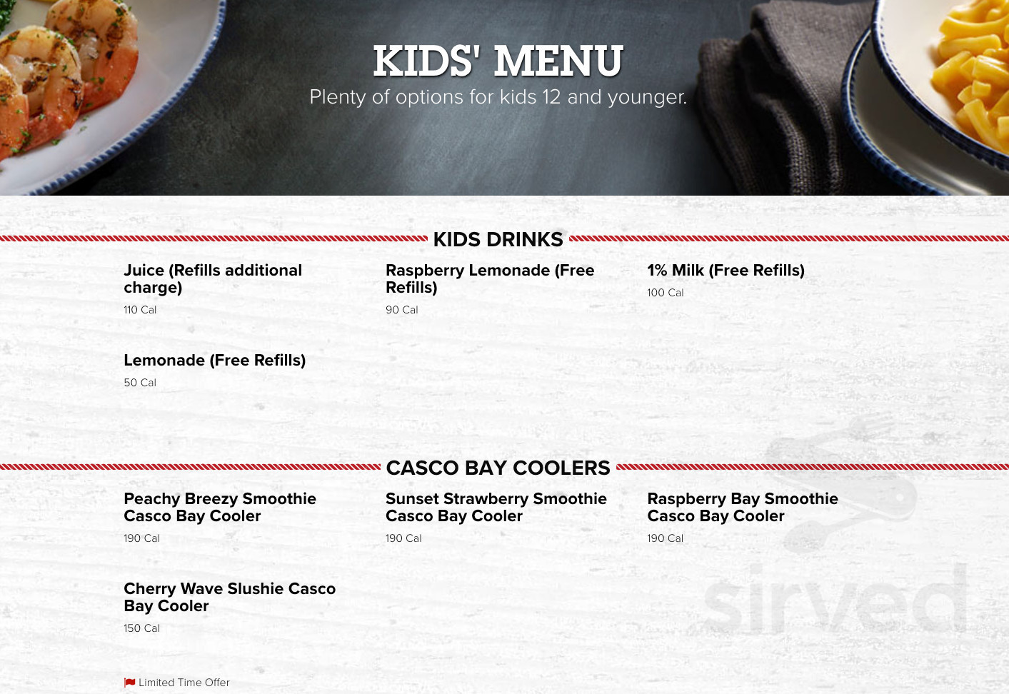 Red Lobster Menu In North Haven Connecticut Usa