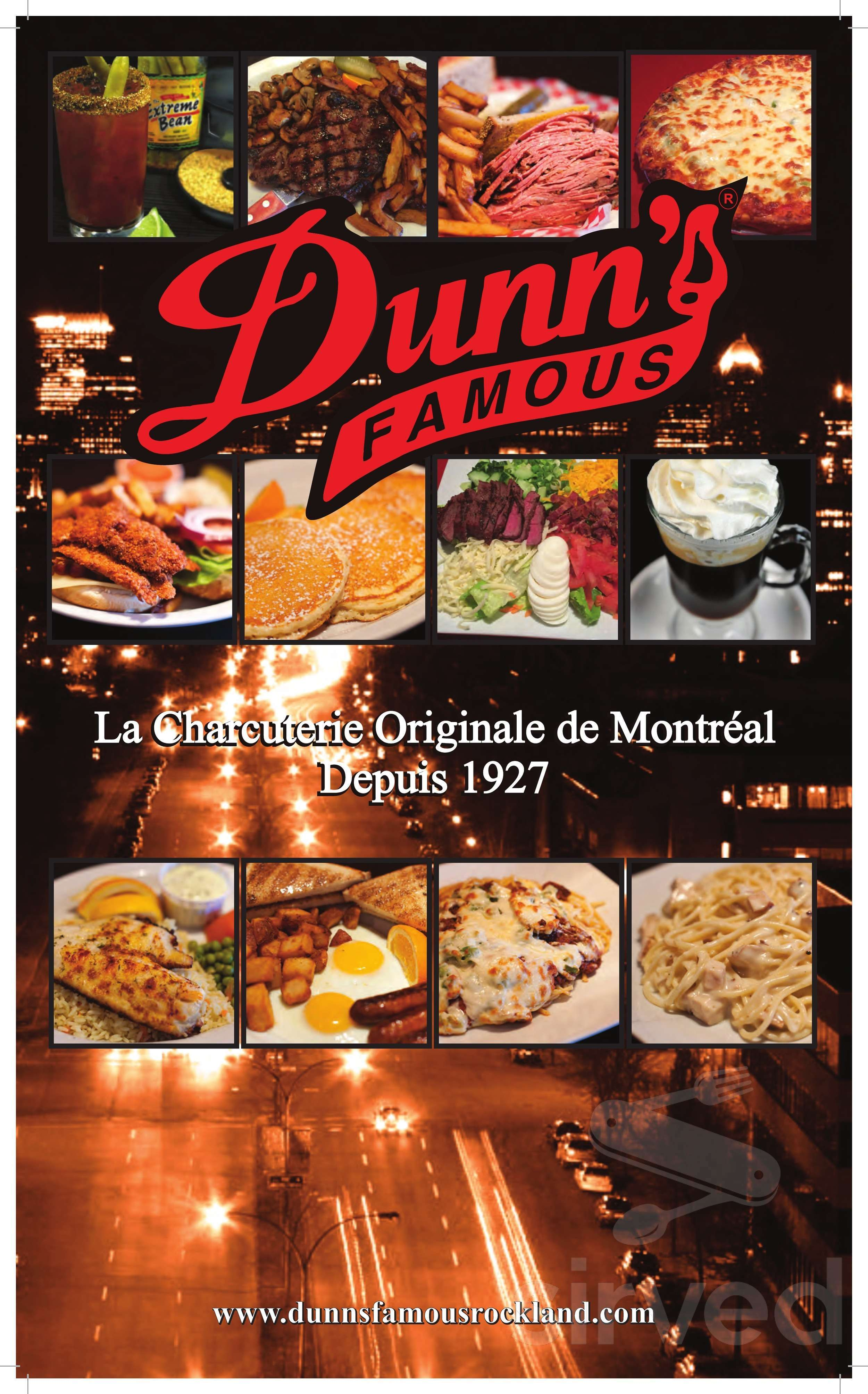 Dunn S Famous Menu In Rockland Ontario Canada