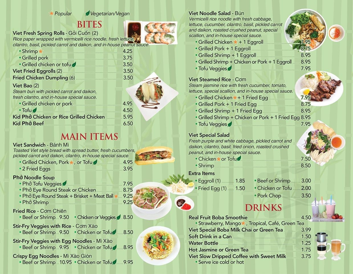 Pho Bowl Vietnamese Restaurant In Clearwater Menu In Clearwater Florida