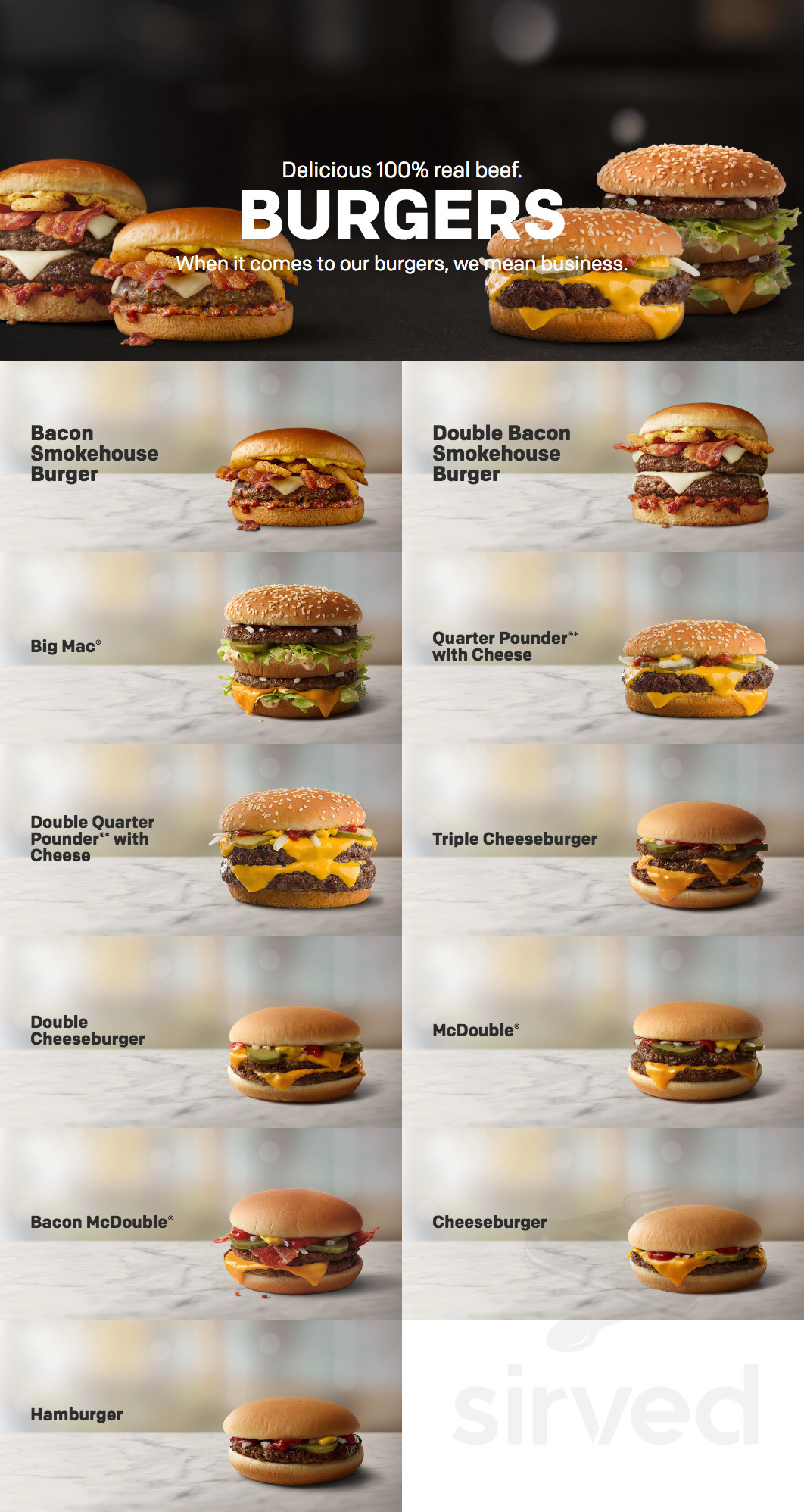 Mcdonald S Menu In Gardena California Usa