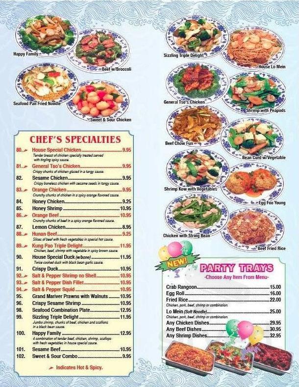 Menu For Chinatown Kitchen In Glenview Illinois Usa