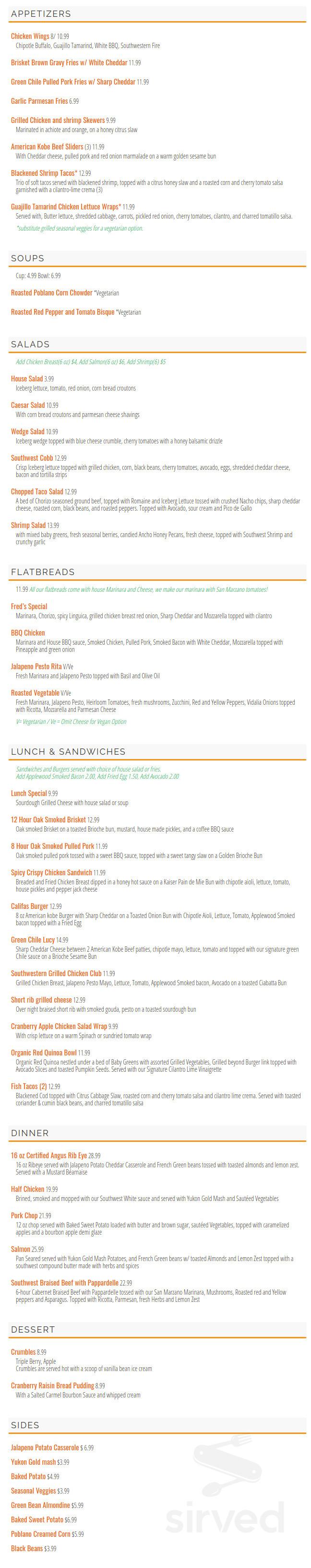 city grill menu in covina california usa sirved