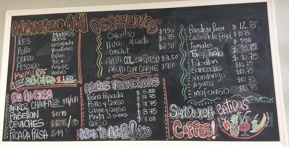 Menu For La Terraza Bakery In Casselberry Florida Usa