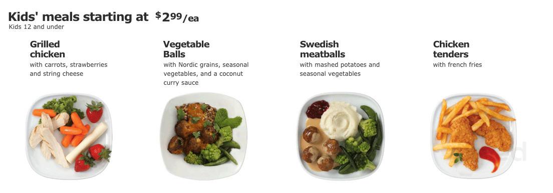 Menu For Ikea Restaurant In Canton Michigan Usa