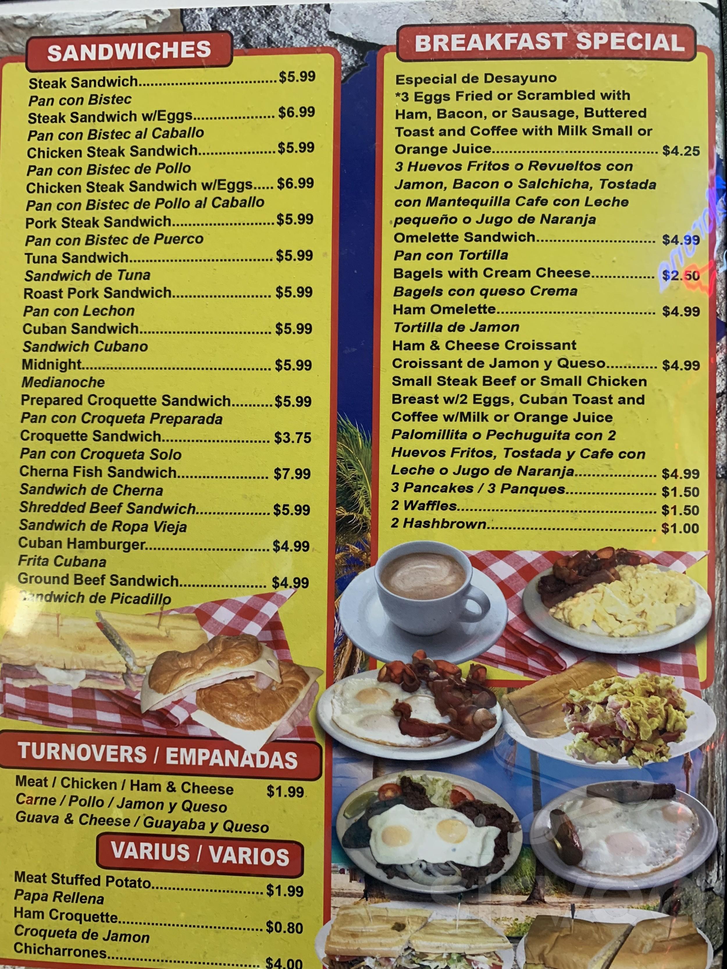 Menu For La Roca Cuban Restaurant In Cape Coral Florida