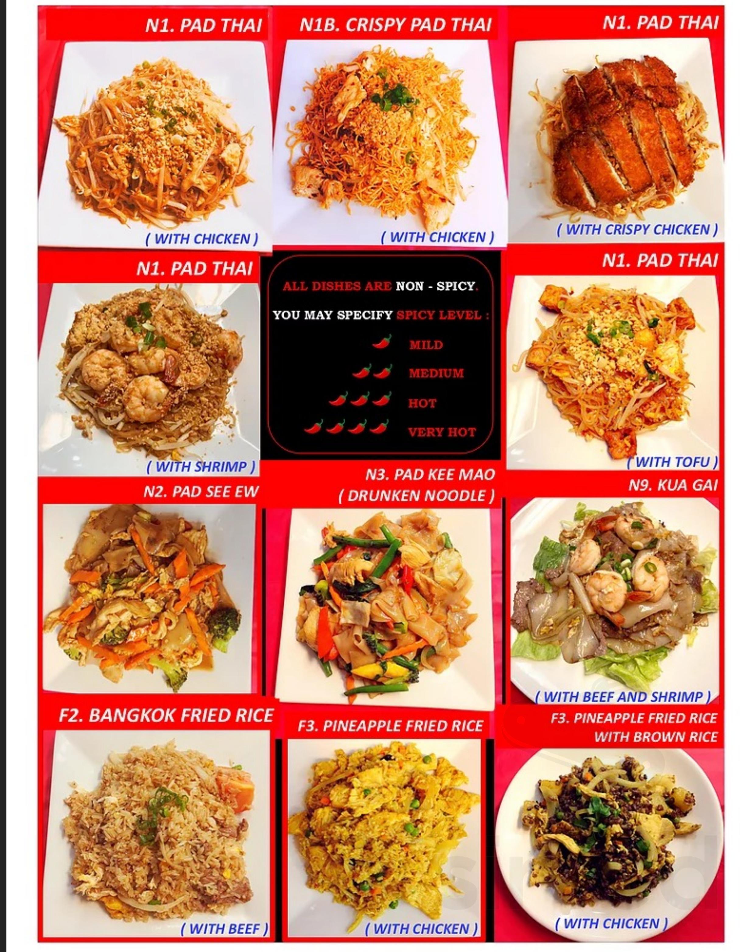 Bangkok Thai Food menu in Londonderry, New Hampshire, USA