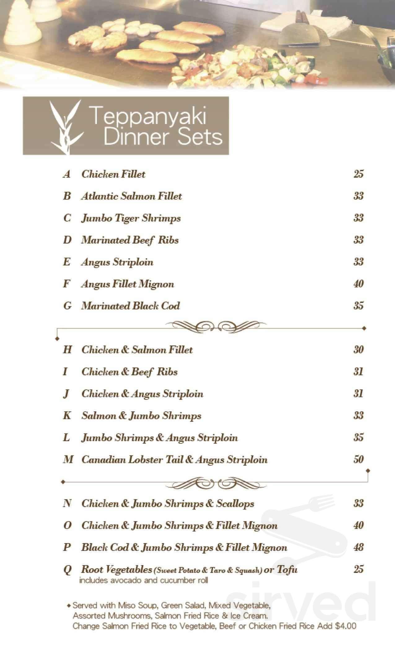 yangs teppanyaki & sushi coupon