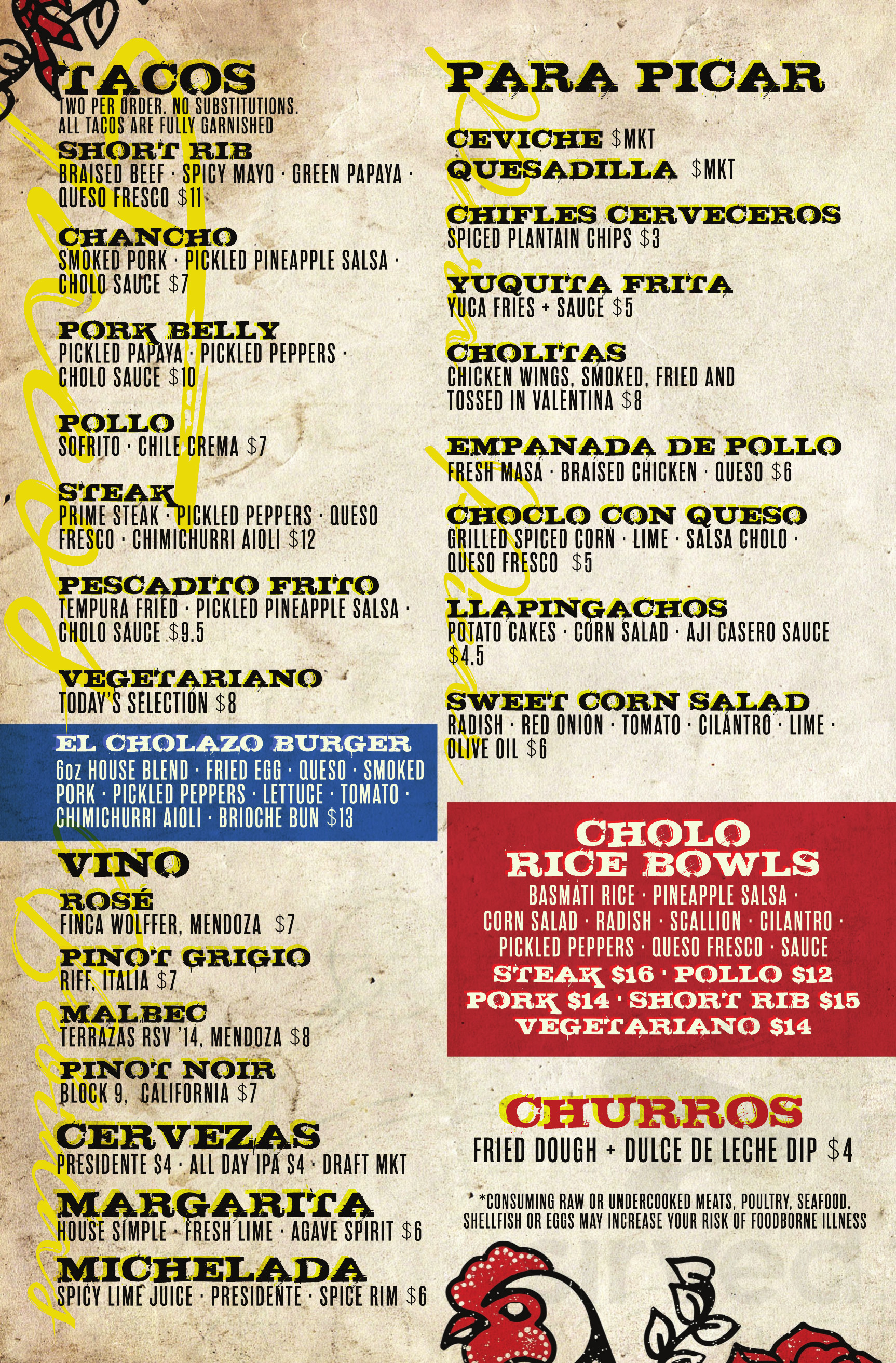 Menu For Cholo Soy Cocina In West Palm Beach Florida