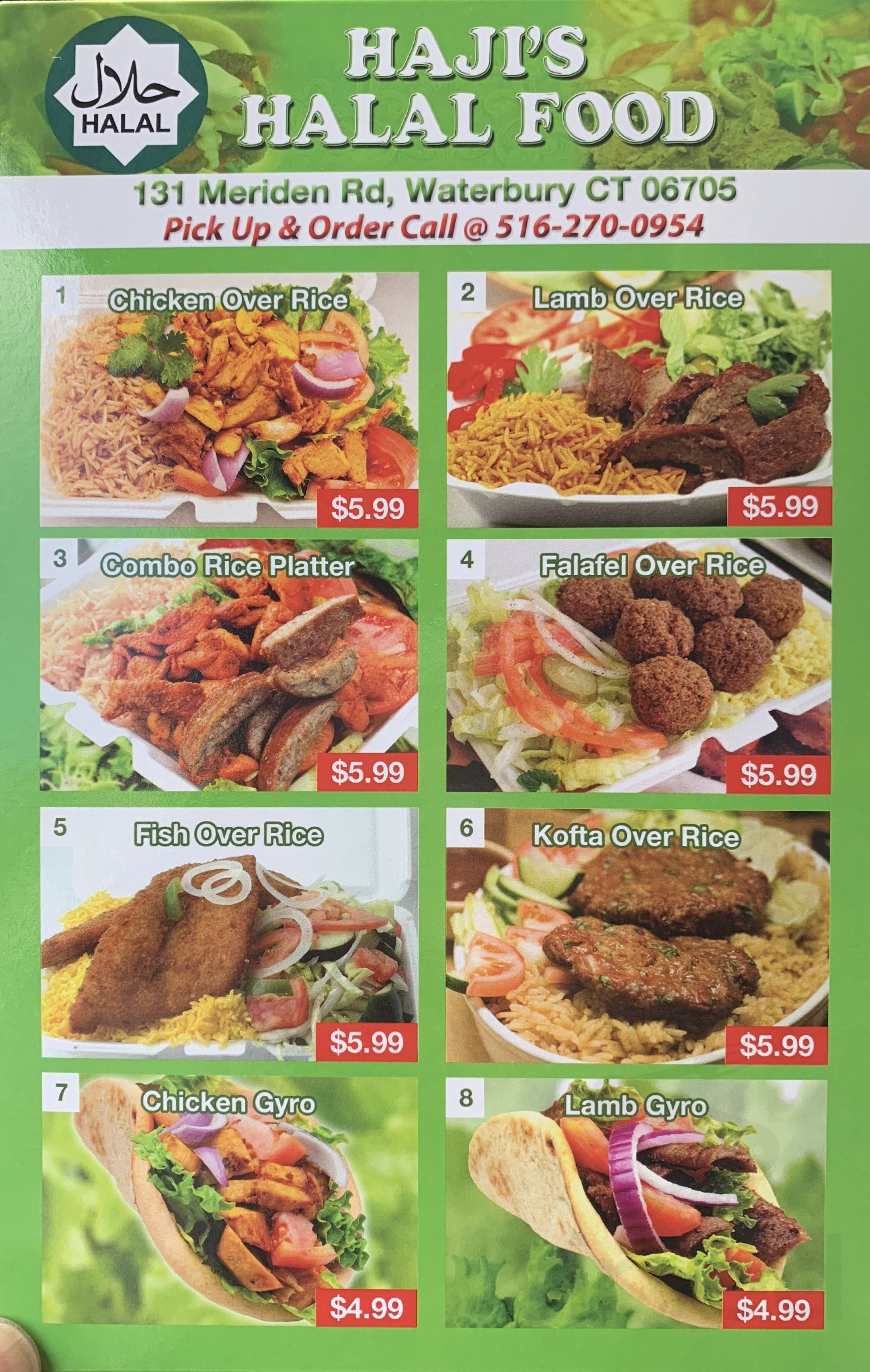 Haji S Halal Food Menu In Waterbury Connecticut Usa