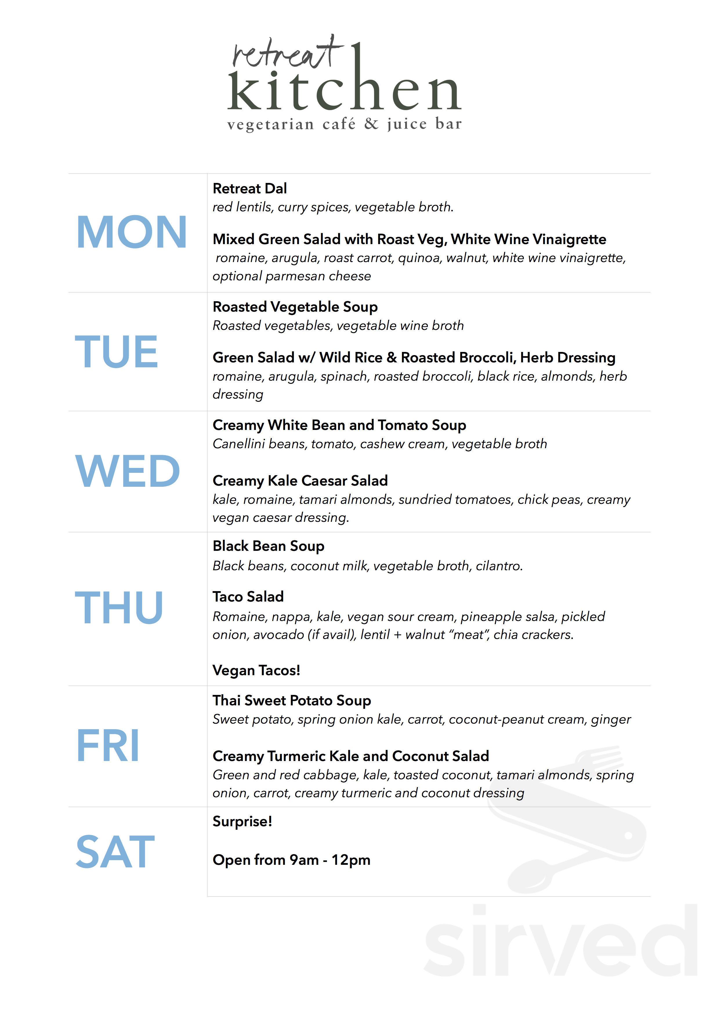 Retreat Kitchen Menu In Grace Bay Tkca 1zz Grace Bay Tkca 1zz Turks And Caicos Islands
