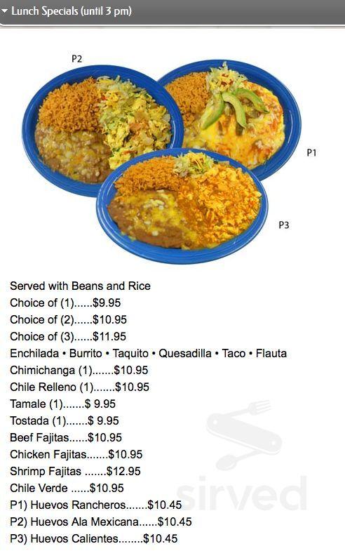 Agave Mexican Restaurant Menu In Sitka Alaska Usa