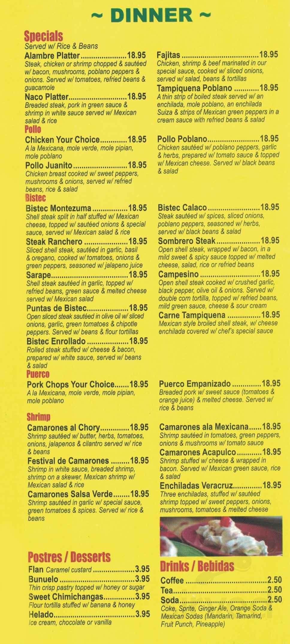 Cinco De Mayo menu in Bloomingdale, New ...