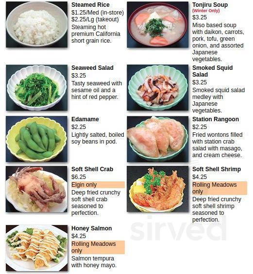 Sushi Station Menu In Elgin Illinois Usa Visit the widget page to learn more and for additional options. sushi station menu in elgin illinois usa