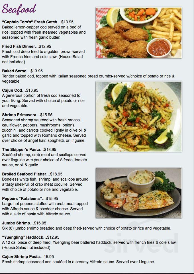 Menu for Ville Restaurant & Bar in Steubenville, Ohio