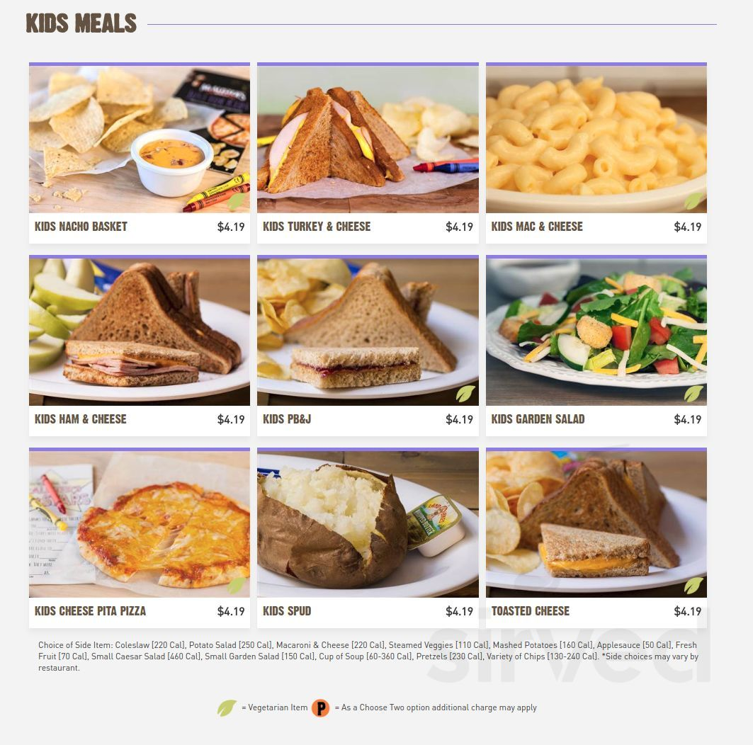 picture regarding Mcalisters Deli Printable Menu titled Menu for McAlisters Deli in just Dayton, Ohio, United states