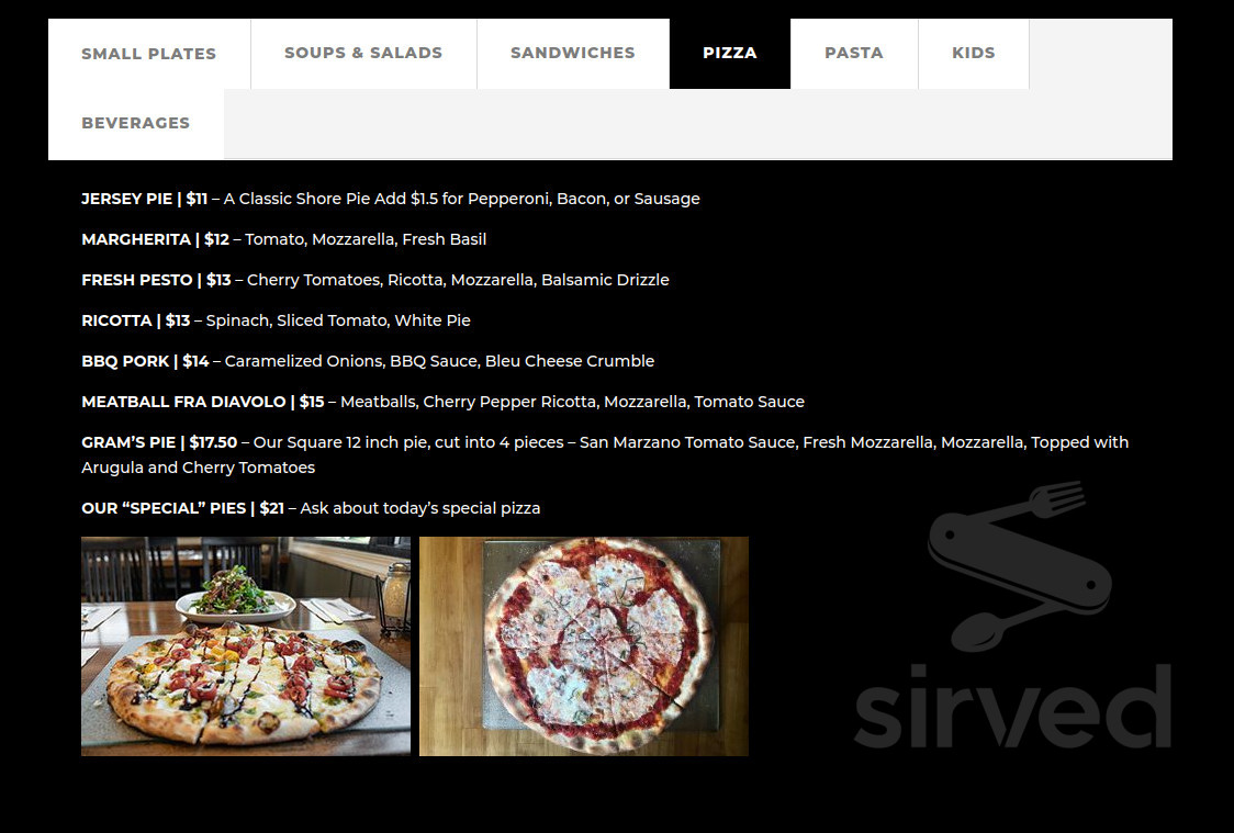 Marsini S Kitchen Menu In Somers Point New Jersey Usa