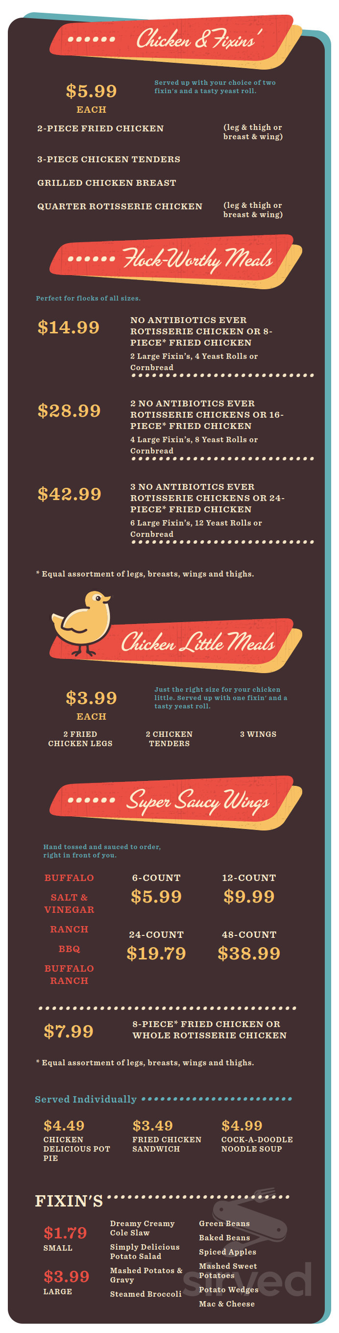 Lowes Foods Chicken Kitchen Menu In Winston Salem North Carolina Usa