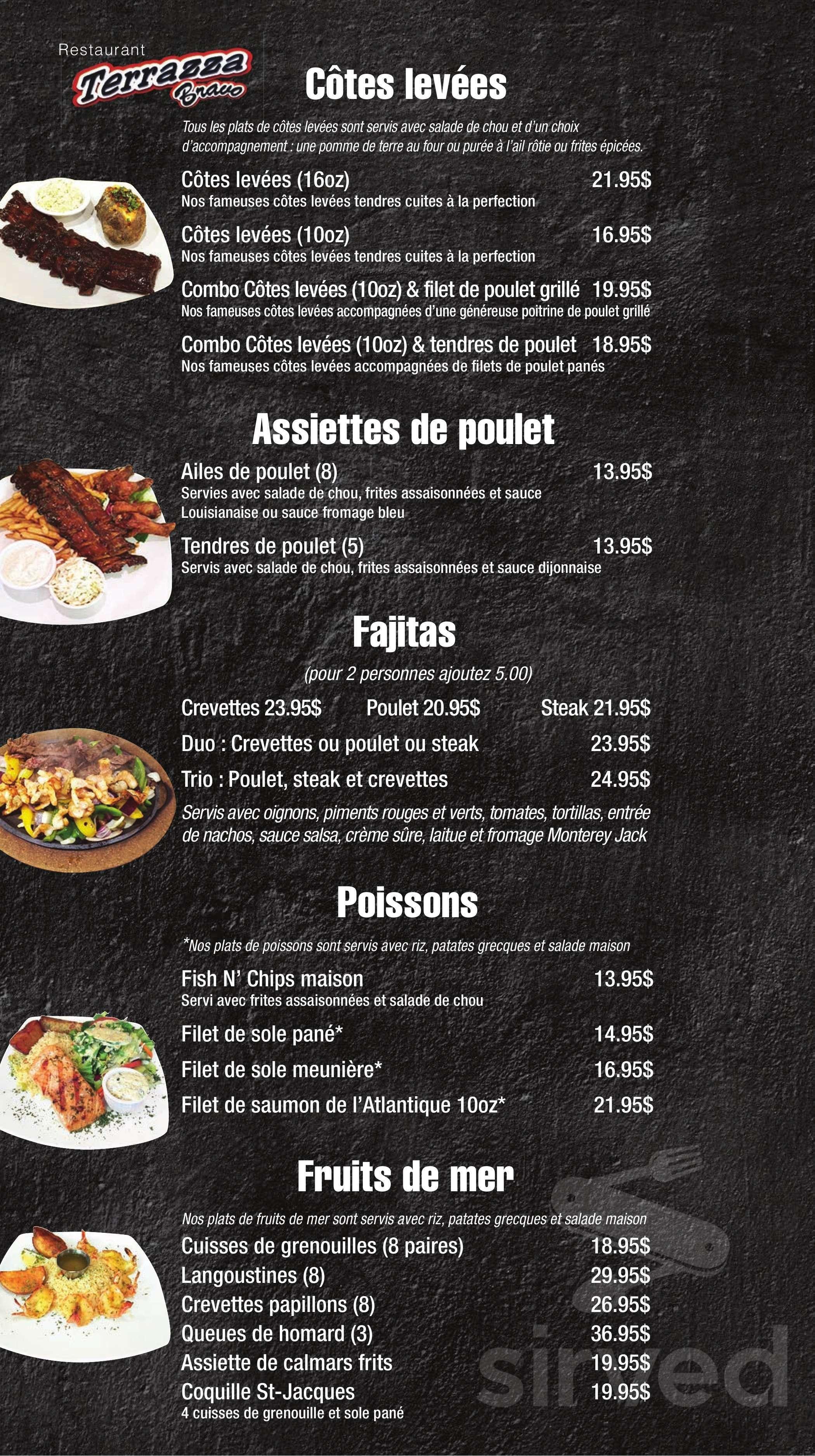 Restaurant Terrazza Bravo La Menu In Saint Charles